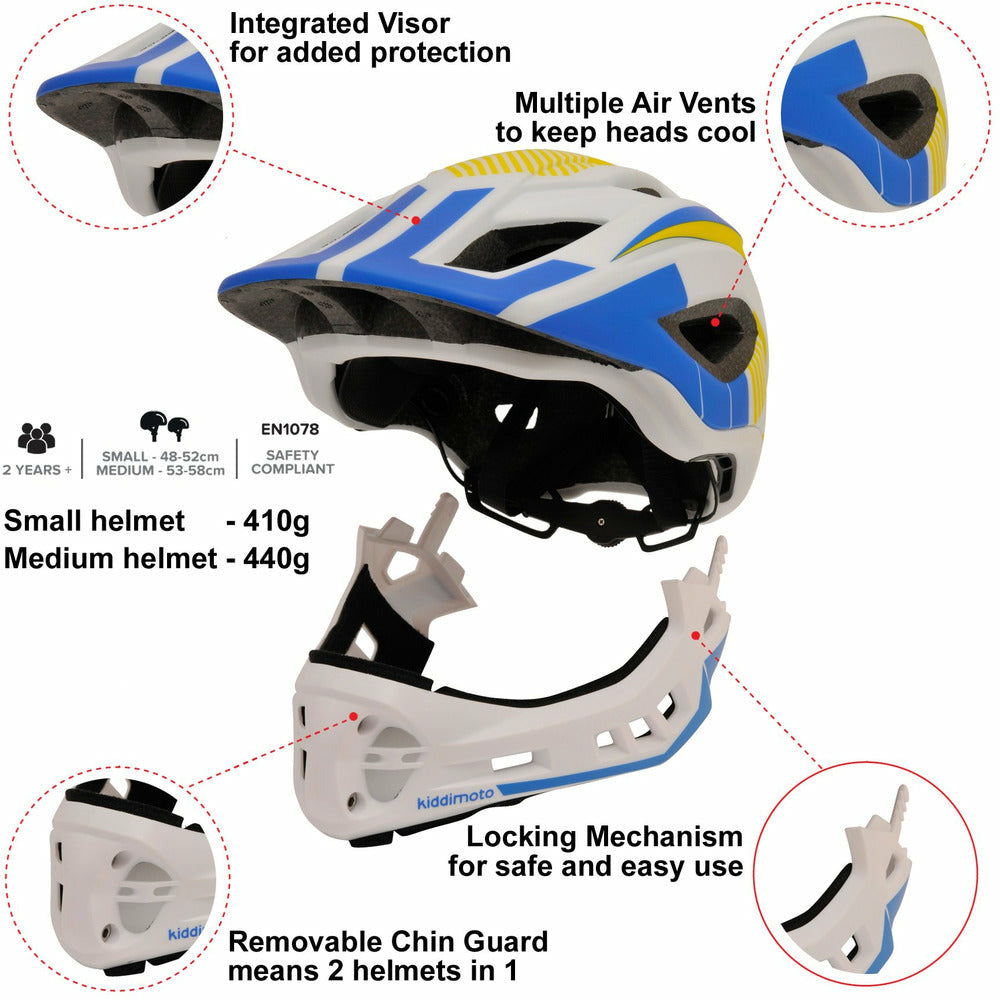 IKON Full Face Helmet - White/Blue