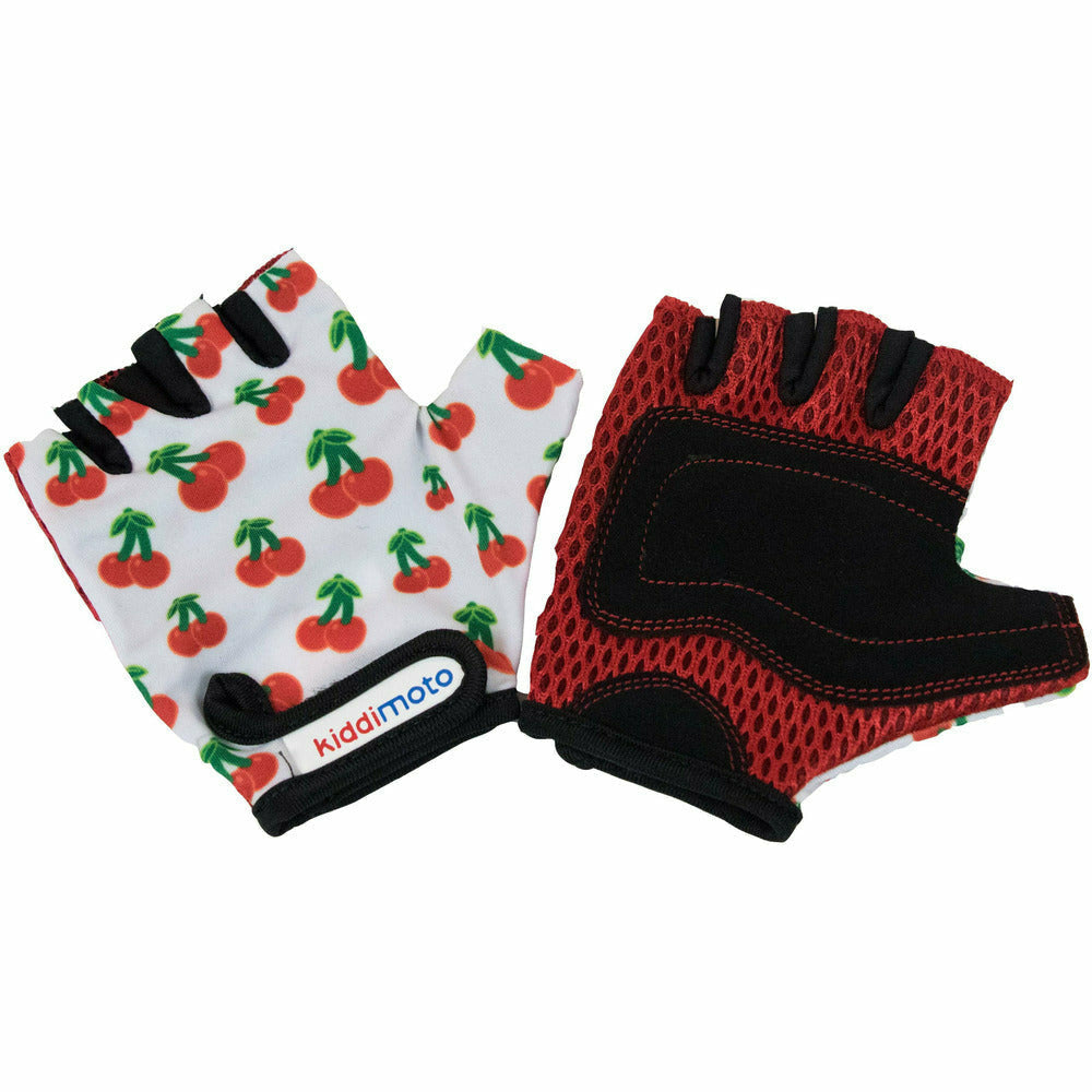 Kiddimoto Cherry Print Cycling Gloves