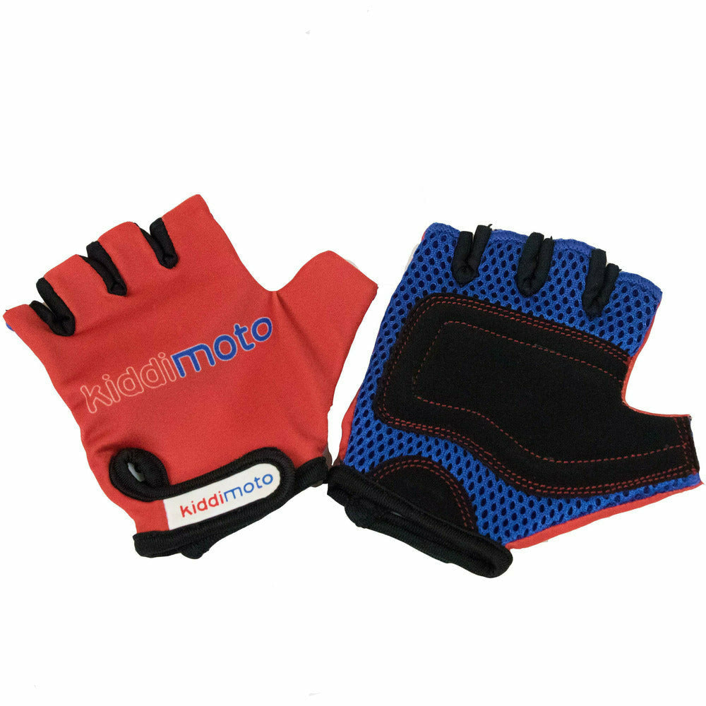Kiddimoto Red Kids Protective Cycle Gloves