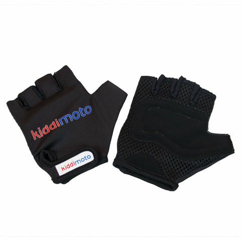 Image of Kiddimoto Protective Kids Cycling Gloves Black