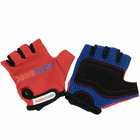 Image of Kiddimoto Red Kids Protective Cycle Gloves
