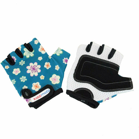 Image of Kiddimoto Protective Kids Bike Gloves Fleur
