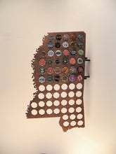 Load image into Gallery viewer, Mississippi Beer Cap Map