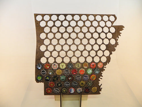 Arkansas Beer Cap Map