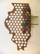 Load image into Gallery viewer, Illinois Beer Cap Map