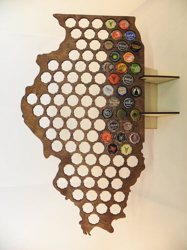 Illinois Beer Cap Map