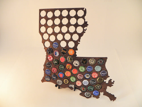 Louisiana Beer Cap Map