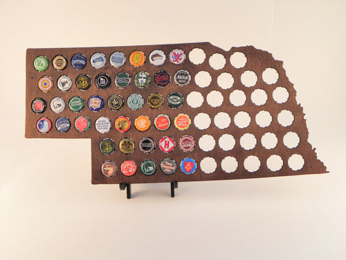 Nebraska Beer Cap Map