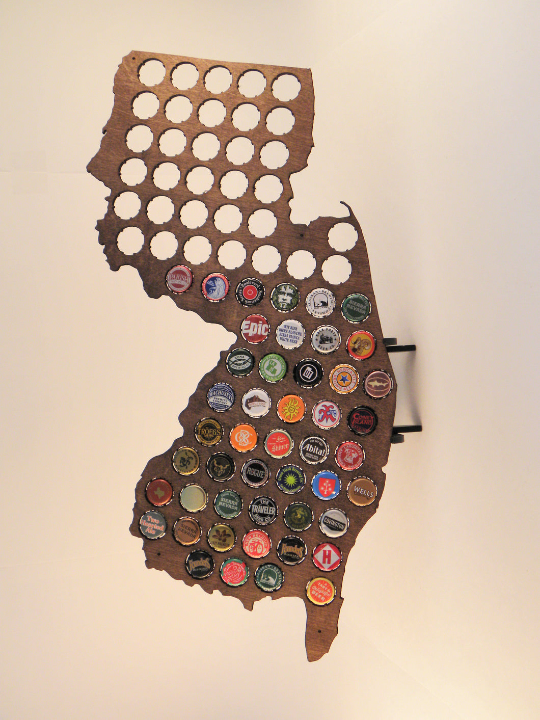 New Jersey Beer Cap Maps