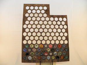 Utah Beer Cap Map