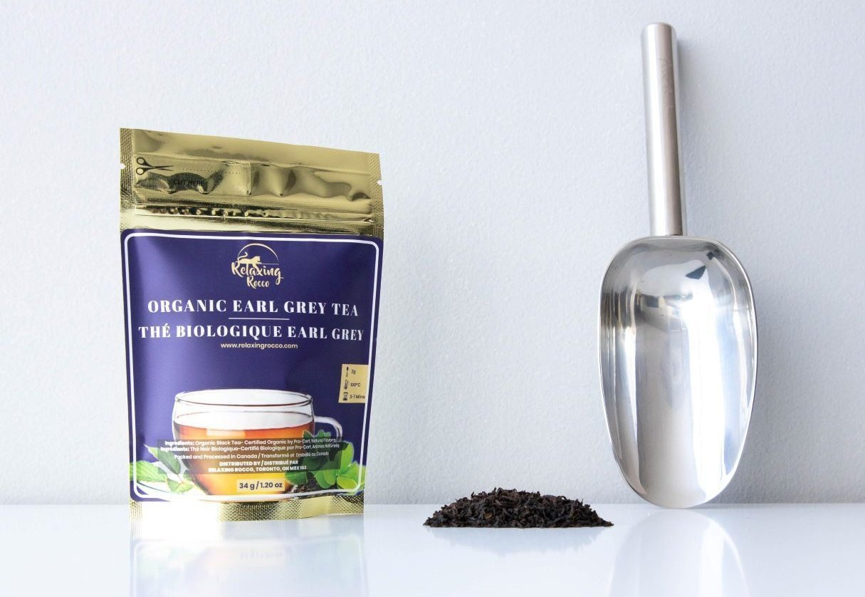 Package of Relaxing Rocco Earl Grey Tea