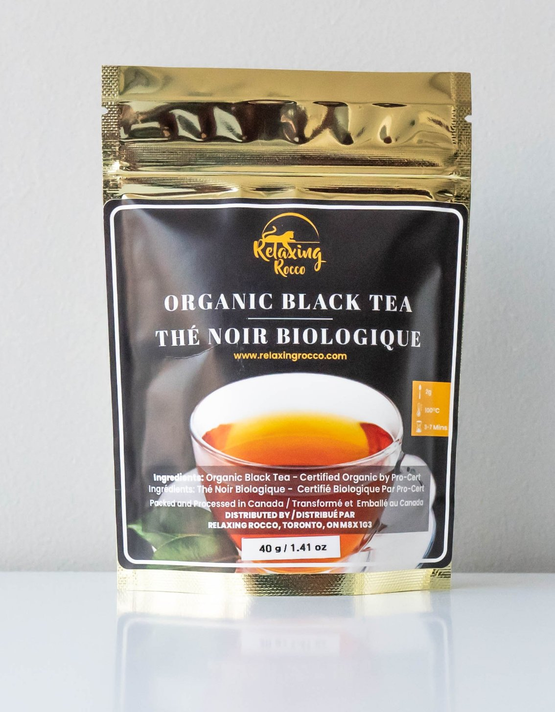 Package of Relaxing Rocco Black Loose Leaf Tea