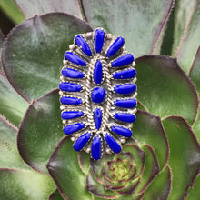 Load image into Gallery viewer, Lapis Lazuli Cluster Ring
