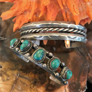 Vintage American Turquoise and Sterling Silver Bracelets