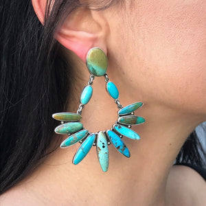 Federico Jimenez Stunning Turquoise Drop Cluster