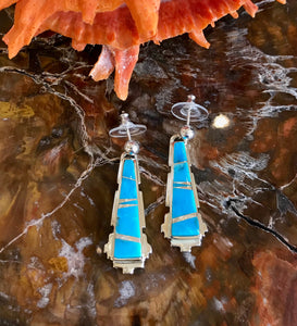 Turquoise Mosaic Necklace and Earring Set