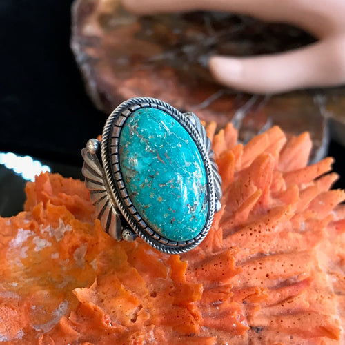 Turquoise and Sterling Silver Men's Ring