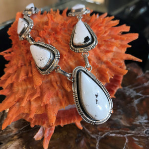 White Buffalo Necklace and Earring Set by Artist Cory Spencer