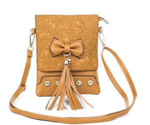 Cross over bag with bow - Sand