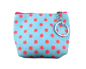 Coin Purse - Pink Polka Dot