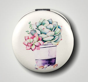 Compact Mirror - Succulent