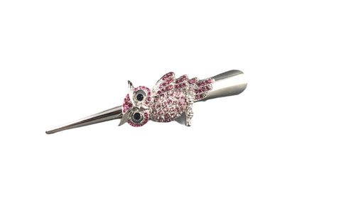 Concord Hair Clip - Pink Owl