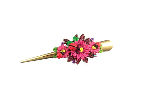 Concord Hair Clip - Light Pink Sunflower
