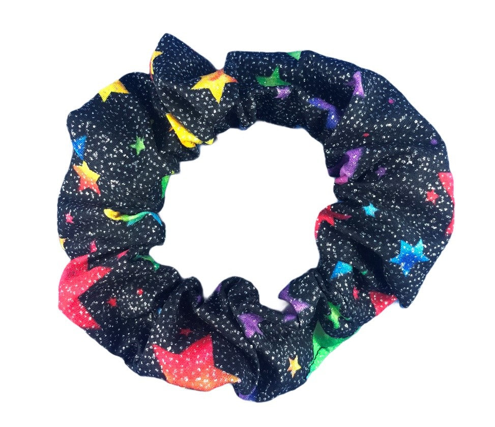 Hair Scrunchie - Sparkly Stars