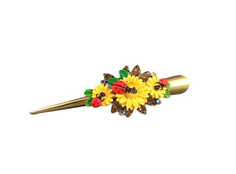Concord Hair Clip - Yellow Sunflower