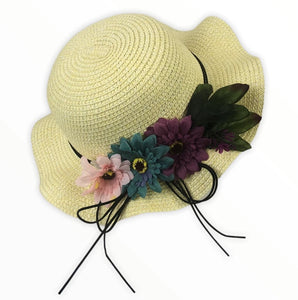 Flower hat - Beige