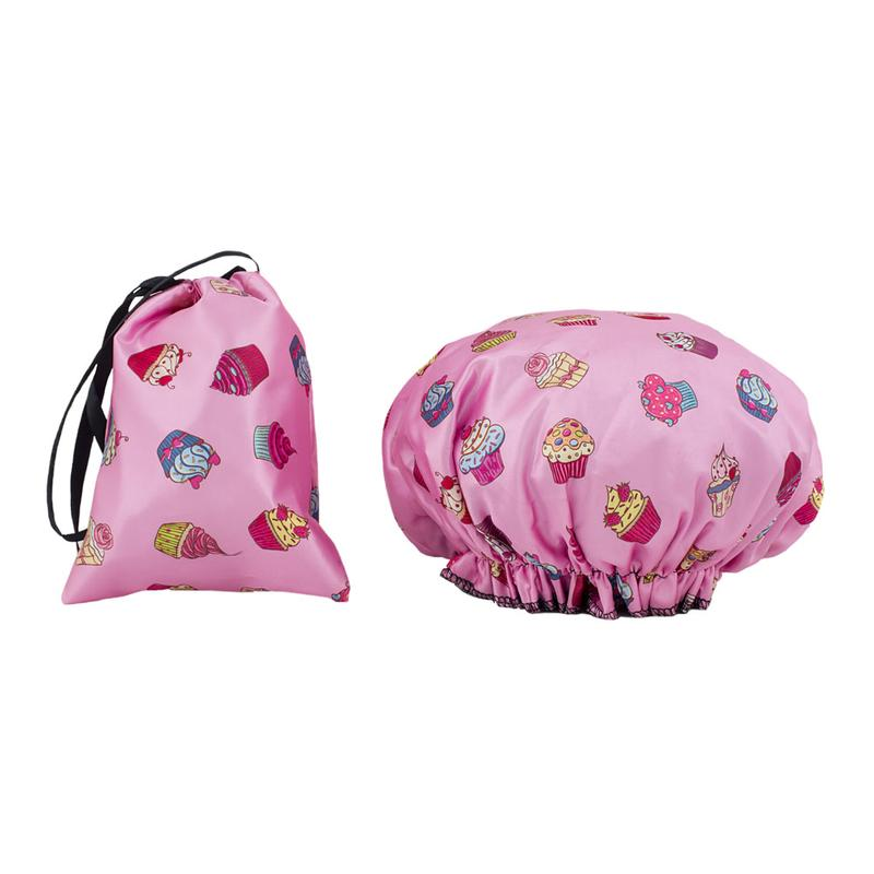 Waterproof Shower Cap - Cupcake Print