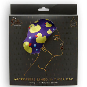 Microfibre Lined Shower Cap - Duck Print