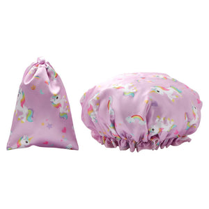 Waterproof Shower Cap - Unicorn Print