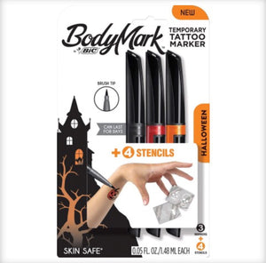 BIC Bodymark Temporary Tattoo Markers - Halloween Themed