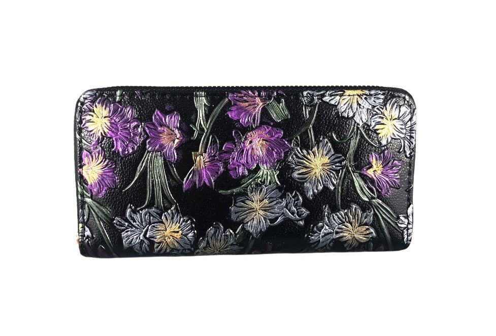 Wallet - Purple flowers