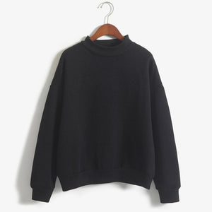 BASIC Loose Pullover Sweatshirt