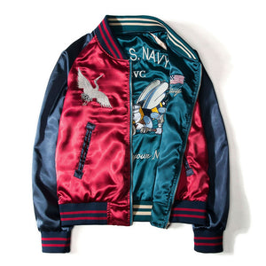 DOUBLE-SIDED Embroidery Bomber Jacket