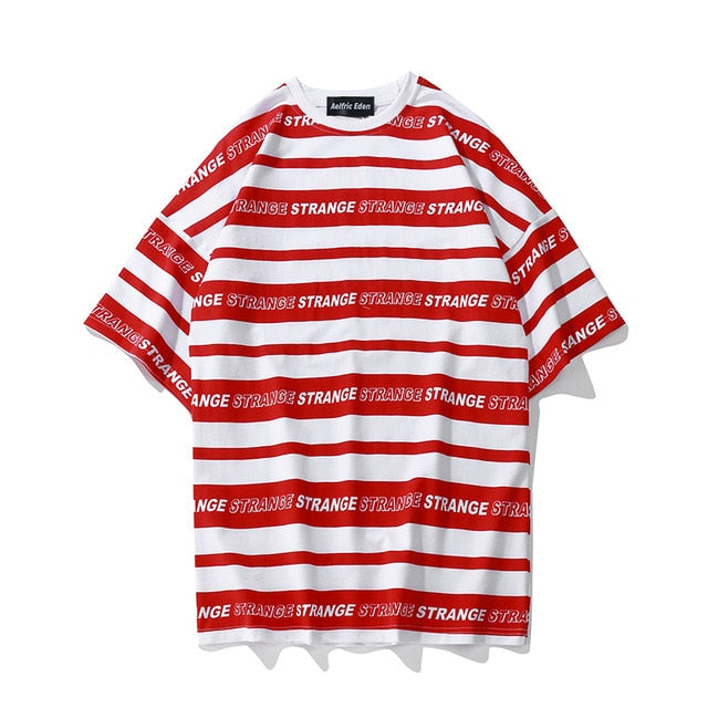STRIPED Strange Printed Tee
