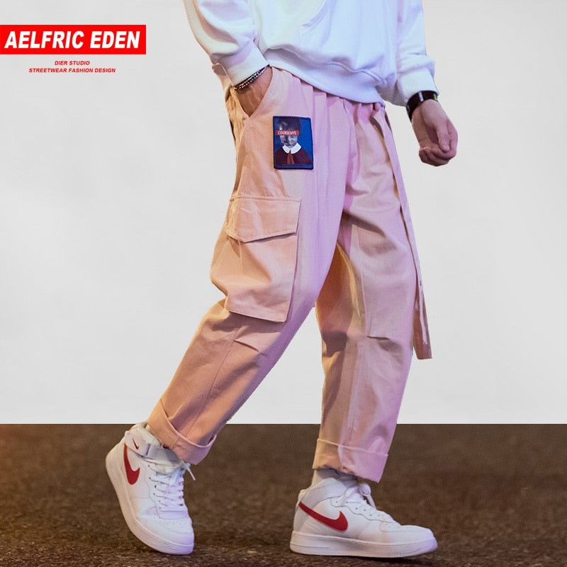 RIBBONS Casual Cargo Sweatpants