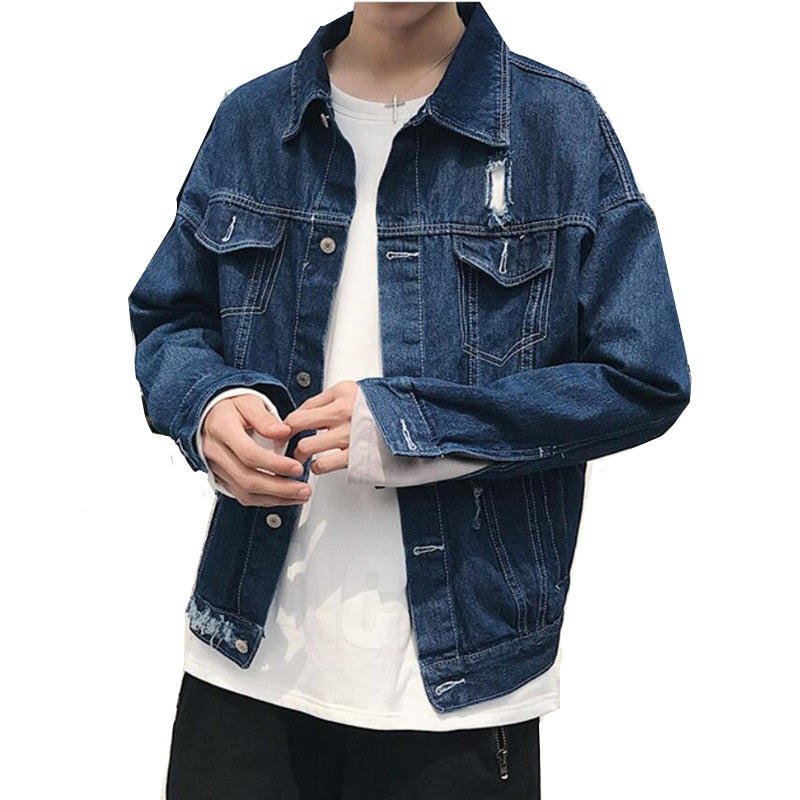 DENIM Ripped Jacket