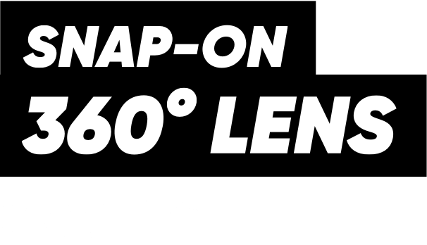 The ultimate snap-on 360° lens – PanoClip