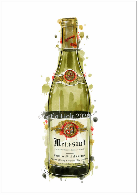 Limited edition bottle print - Meursault, Domaine Michel Lafarge