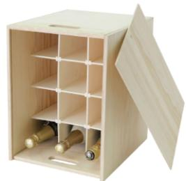 Twelve bottle wooden gift box