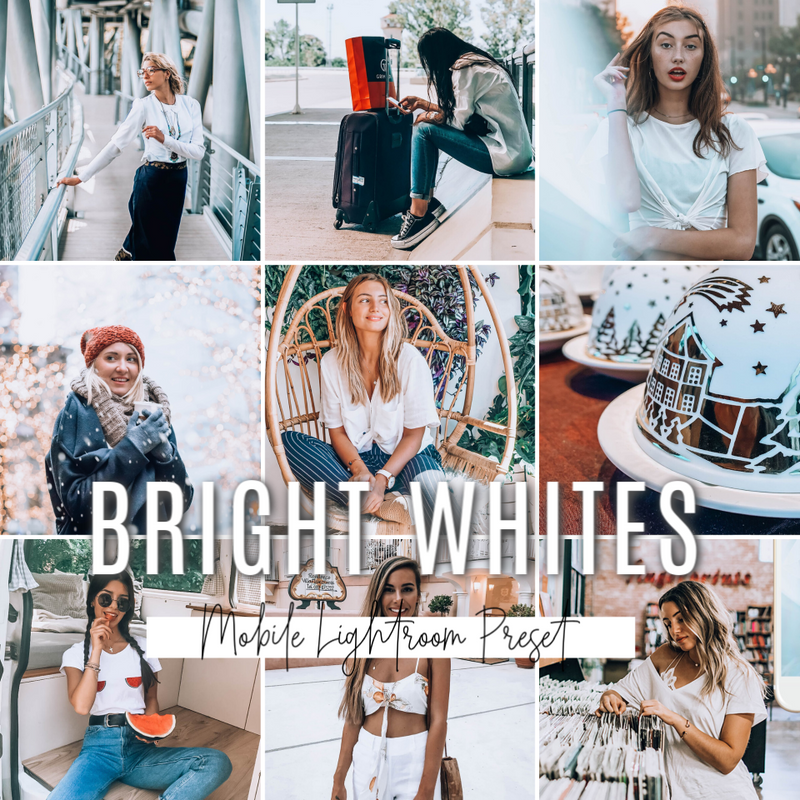 BRIGHT WHITES Mobile Lightroom Preset