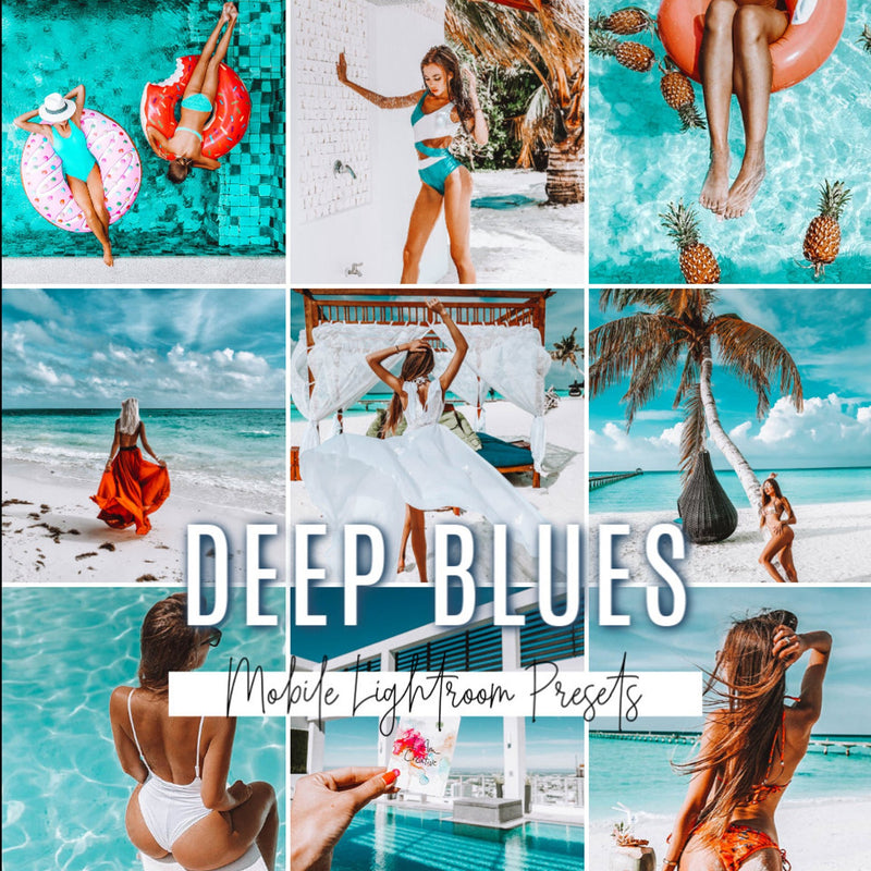 DEEP BLUES Mobile Lightroom Preset