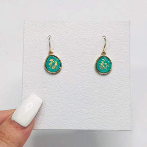 Colored Gem Earrings