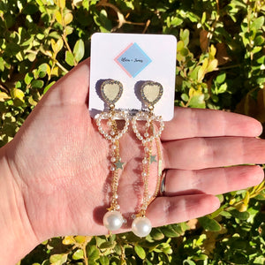 Heather Heart Earrings