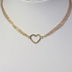Holly Heart Choker