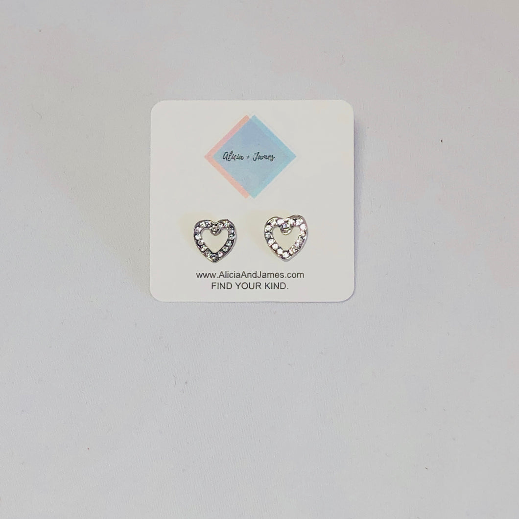 Dawson Diamond Heart Earrings