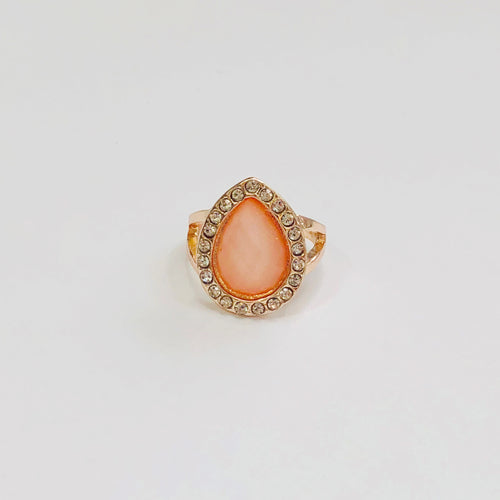 Almond Pink Diamond Ring